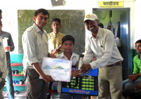 Wildlife week with the village school children at Satpura Tiger Reserve