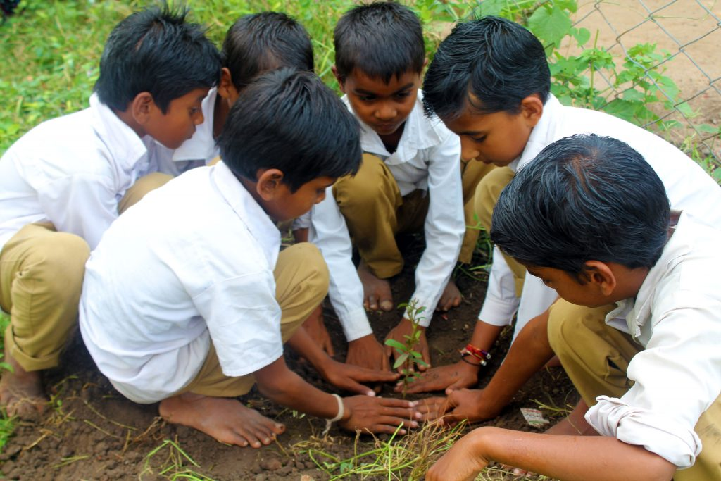 Wildlife week with the village school children at Satpura Tiger Reserve