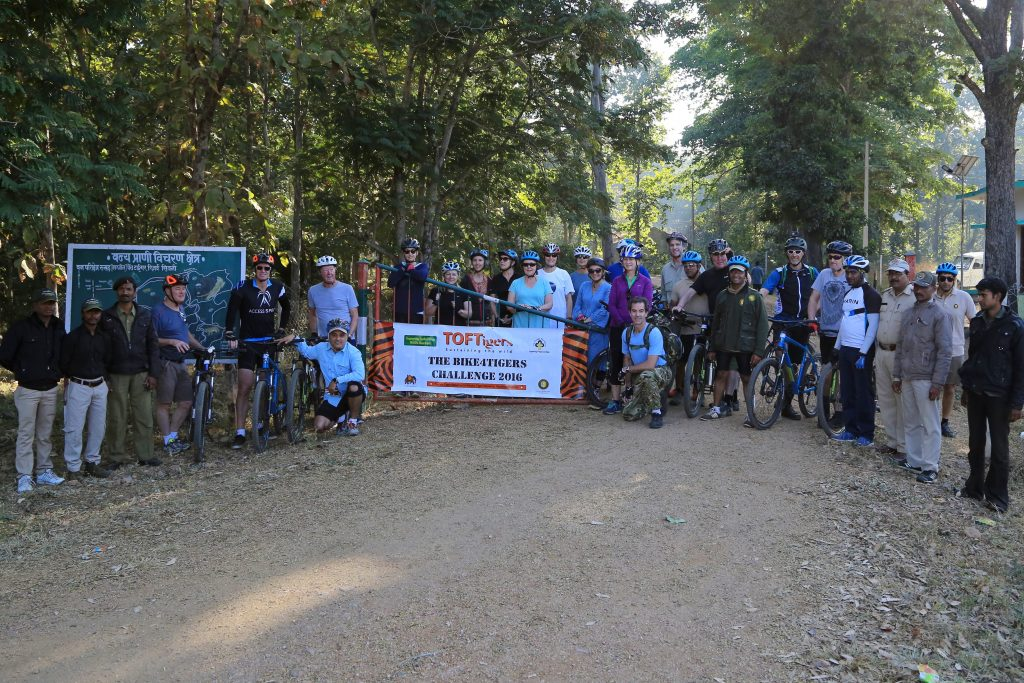 At Rukad (Pench National Park) Starting point of the Cycling Trip.