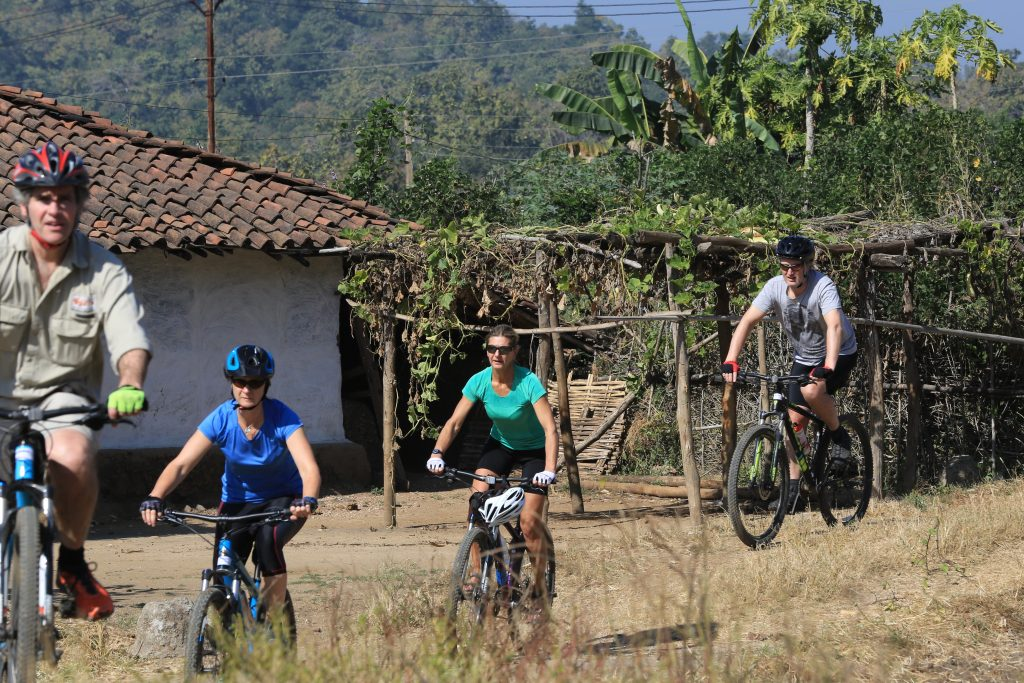 Cycling through the villages