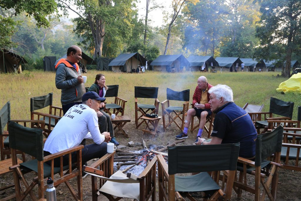 Morning tea at Camp 1
