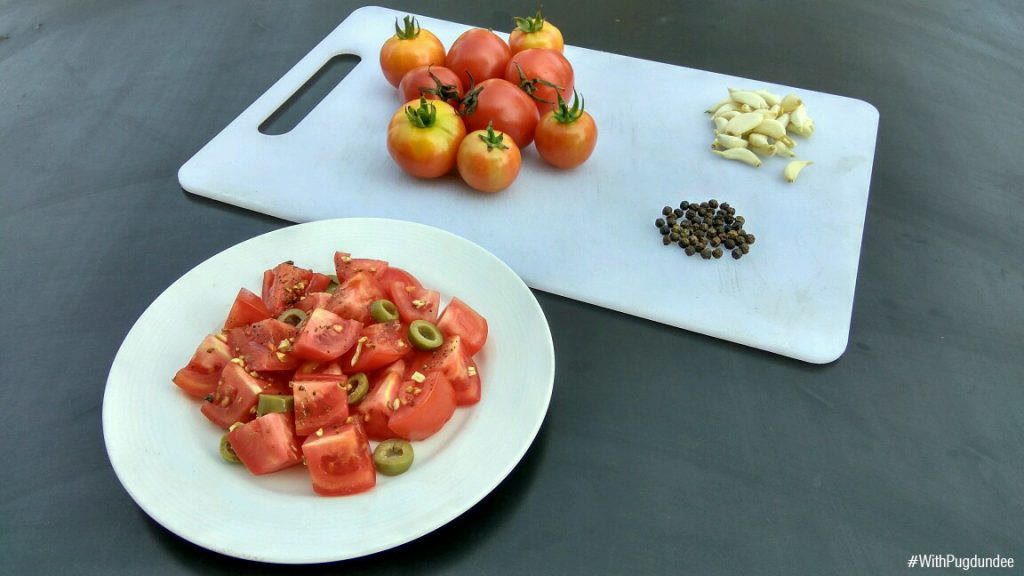 Tomato Salad with Roasted Garlic Recipe