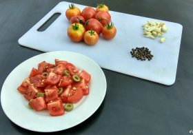 Tomato Salad with Roasted Garlic Recipe -Local Food in Pench
