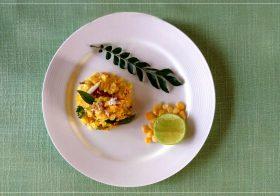 Makai ki Khees / Grated Corn Snack Recipe