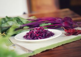 A Burst of color and oozing flavours: Beetroot sabzi at our lodges