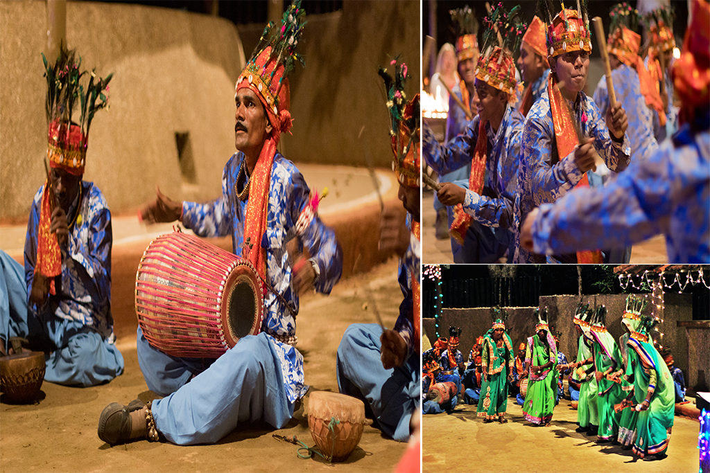 Tribal music and dance at Bandhavgarh
